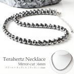 テラヘルツ鉱石ネックレス キラキラ ミラーカット 粒直径6mm 長さ約50cm