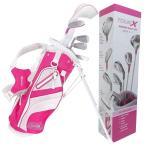 TOUR-X ピンクジュニア ゴルフセット サイズ #1 (5-7才用)