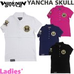 WINWIN STYLE ウィンウィンスタイル YANCHA SKULL ヤンチャ スカル   レディース 半袖 ポロシャツ