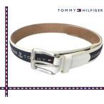 TOMMY HILFIGER(トミーヒルフィガー) [ホワイト/ネイビー] 牛革コンビベルト USモデル