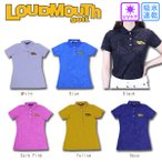 ラウドマウスゴルフ Loud Mouth Golf 半袖シャツ ポロシャツ 半袖ポロシャツ レディス ネイビー 997 S