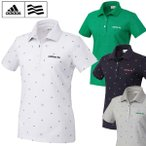 [クーポン有][Sale 55%off][レディース]adidas(アディダス) アディクロス プリント鹿の子半袖ポロシャツ JLI91