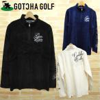ガッチャゴルフ メンズウエア 長袖 コールニット ハーフジップ シャツ ロゴ 刺繍 63GG1208 GOTCHA GOLF 秋 冬 新品 16FW ゴルフウェア