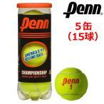 Penn ペン チャンピオンシップ レギュラーデューティーフェルト テニスボール 5缶(15球) CHAMPIONSHIP REGULAR-DUTY FELT USモデル  硬式 USTA公認球 ITF公認球