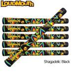 ラウドマウス Loudmouth ゴルフ グリップ ウッド用 アイアン用 シャガデリック ブラック Shagadelic Black 新品  ゴルフパーツ
