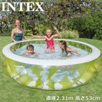 INTEX インテックス 丸型ピンホイールプール 直径2.31m×高さ53cm   水遊び 丸形プール 大型プール ビニールプール アウトドア用品 %off MAY3 JUN1