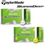 テーラーメイド SUPERDEEP(スーパーディープ) 1ダース(12個) 日本仕様 ゴルフボール 新品 TaylorMade