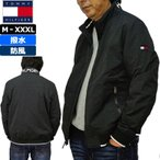 TOMMY HILFIGER トミーヒルフィガー メンズ フルジップ ジャケット 156AN355 ブラック ナイロン ボンバージャケット