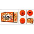 TOBIEMON 飛衛門 蛍光カラー ゴルフボール オレンジ 1ダース(12球入り)