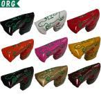 ゴルフ ヘッドカバー パター用 オリジナル ヤモリ (Gecko) PUエナメルレザー ブレードパターカバー (全9色) 273