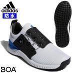 アディダス ゴルフ シューズ メンズ アディクロス バウンス ボア スパイクレス フルレングス bounce boa 人工皮革 防水 adidas F33573