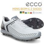 店頭展示品 ECCO メンズ ゴルフ シューズ MEN'S GOLF BIOM G2 Lace 天然皮革 軽量 撥水 15BIOM G2 16BIOM エコー