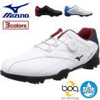 ミズノゴルフ  ゴルフシューズ ライトスタイル 002 ボア  09 ブラック レッド 24.5 3E