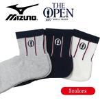 ミズノ ゴルフ ソックス メンズ The Open 25〜27cm L型ヒール構造 だぶつき軽減 全3色 mizuno 52JX9102