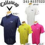 キャロウェイゴルフ Callaway Golf 地柄チェック半袖ポロシャツ