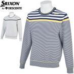 スリクソン by デサント メンズ ゴルフウェア パネルボーダー クルーネック セーター RGMPJL02