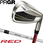 PRGR プロギア  RED 16RED TITAN FACEアイアン M37ST 5本セット  6-P  RED   番手  7