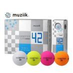 【2018年モデル】ムジーク muziik コルテオライト 42 CORTEO LITE 42 軽量 ゴルフボール 1ダース(12球入り) 日本正規品