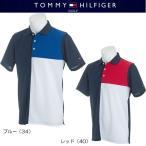 ショッピングTOMMY トミーヒルフィガー ゴルフ パネルブロッキング 半袖ポロシャツ(THMA814)2018春夏モデル