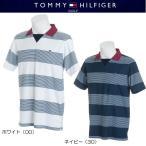 ショッピングTOMMY トミーヒルフィガー ゴルフ ボーダー スキッパーネック 半袖ポロシャツ(THMA817)2018春夏モデル