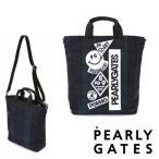 【NEW】PEARLY GATES パーリーゲイツ ブラックウォッチシリーズ デコワッペン BIGトートバッグ ショルダー付き 053-0281100/20D