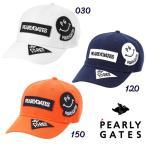 【NEW】PEARLY GATES パーリーゲイツ デコワッペン ボックスロゴ ツイルキャップ 053-1187001/20D