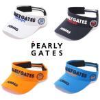 【NEW】PEARLY GATES パーリーゲイツ PGM4G ブリムロゴ コットンツイル バイザー 053-1187108/20D