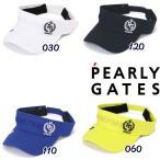 【NEW】PEARLY GATES パーリーゲイツ LAURELクラウン コットンツイル VICTORYバイザー 053-1187309/21A