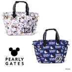 【NEW】PEARLY GATES パーリーゲイツ ミッキーマウス総柄BIGトートバッグシューズIN! MICKEYシルエットチャーム付 053-1281001/21D<MICKEY SERIES>