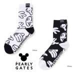 【NEW】PEARLY GATES パーリーゲイツ メンズ ミッキーマウス BOTH HANDS ミドルソックス =JAPAN MADE= 053-1286005/21D<MICKEY SERIES>【郵送料無料】