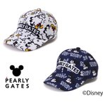 【NEW】PEARLY GATES パーリーゲイツ ミッキーマウス総柄 キャップ 053-1287001/21D<MICKEY SERIES>