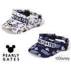 【NEW】PEARLY GATES パーリーゲイツ ミッキーマウス総柄 バイザー 053-1287002/21D<MICKEY SERIES>
