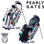 【NEW】PEARLY GATES WAPPEN SMILY パーリーゲイツ・ワッペンスマイリースタンドバッグ発売! 641-1980101【WAPPENSMILY】【WEB限定モデル】