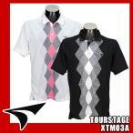 ショッピングツアーステージ ツアーステージ ポロシャツ ダイヤプリント 半袖 XTM03A