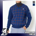 ブリヂストンゴルフ メンズ カシミヤ Vネックセーター チェック柄デザイン EGM12B