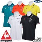 ルコックスポルティフゴルフ  le coq sportif GOLF COLLECTION 半袖シャツ QGMLJA18 BK00 BK00 ブラック  S