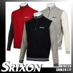 スリクソン バイ デサント ハーフジップ リブニットセーター 切替デザイン 蓄熱裏地付き SRM2077F