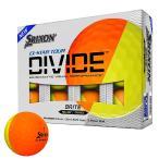 【USモデル】ダンロップ スリクソン SRIXON Q-STAR TOUR DIVIDE ゴルフボール イエロー/オレンジ 1ダース [12球]