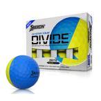 【USモデル】ダンロップ スリクソン SRIXON Q-STAR TOUR DIVIDE ゴルフボール ブルー/イエロー 1ダース [12球]