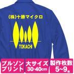 オリジナルジャンパープリント/プリント代金5〜9枚/大サイズ1色プリント