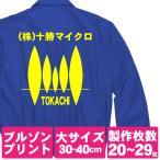 オリジナルジャンパープリント/プリント代金20〜29枚/大サイズ1色プリント