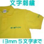 文字刺繍13mm【〜5文字】