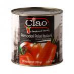 代引不可 チャオ ポモドーリ ペラーティ ホールトマト 2500g 6個セット 2048