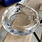 クリスタルガラス 灰皿 10cm ダイヤカット クリスタル 高級 おしゃれ ガラス はいざら