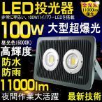 LED投光器 100W 1000W相当 led 投光器 広角 屋外 ledライト 看板灯 集魚灯 作業灯 駐車場 防水 一年保証 GOODGOODS LD302