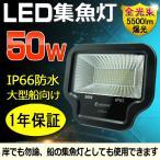 LED集魚灯 100V 50W 500W相当 5500Lm 薄型 船舶 集魚ライト 夜釣り イカ釣り 昼光色 軽量 コンパクト 防水加工 一年保証 LD93-D