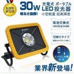 800円OFF led投光器 30W 3600lm cob 強力マグネット付き ワークライト iPhoneに充電可 YC-05W 実用新案登録