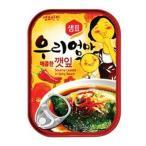 送料無料『センピョ』えごまの葉キムチ缶詰(辛口・70gx3個)メール便