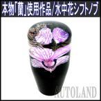 水中花シフトノブ/本物蘭/生花作品/9cm/MT車/紫