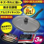 新しくなったワイドパン 専用ガラス蓋付 フィッシュグリル 3層ブルーダイヤモンドコート IH対応